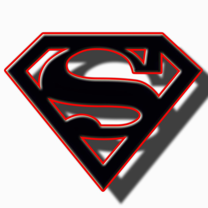 Superman BLack and Red