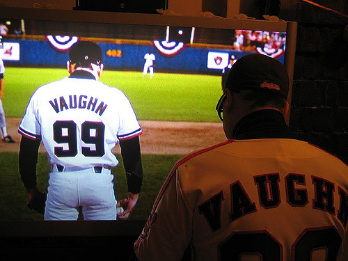 Vaughn watching Vaughn
