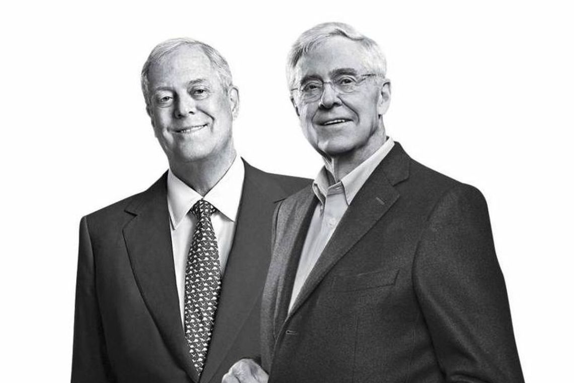 Koch Bros Black White
